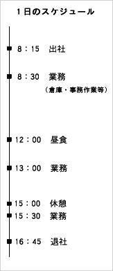 倉庫・切断課1 スケジュール表