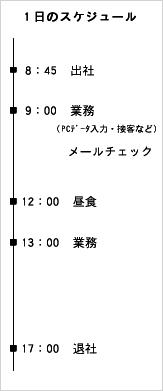 業務課 スケジュール表